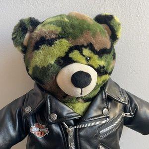 Camo Build-A-Bear with Harley Davidson Jacket